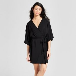 Gilligan & O'Malley Black Total Comfort Lace Robe